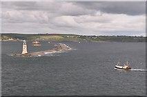 SX4650 : Plymouth Sound : Coastline & Breakwater by Lewis Clarke