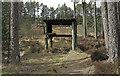 NH5469 : Shelter for target practice by Trevor Littlewood