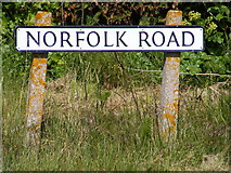 TM4678 : Norfolk Road sign by Adrian Cable