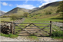 NY1807 : Gate and footpath, Wasdale Head Hall Farm by Rob Noble