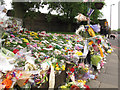 TQ4378 : Tributes to Lee Rigby on Artillery Place (2) by Stephen Craven