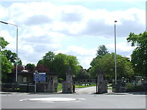 TQ5087 : Cemetery Gates near Romford by Malc McDonald