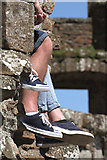 NY0265 : Resting at Caerlaverock Castle by Walter Baxter