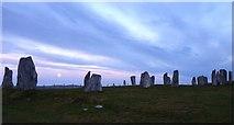 NB2133 : Evening light on Calanais stones by James Allan