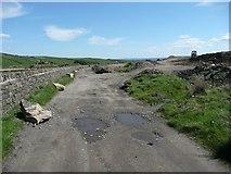 SE0429 : Driveway and landfill site near Haigh Cote Dam by Humphrey Bolton