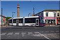 SD3348 : Tram leaving Fleetwood Ferry by Ian Taylor