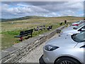 NY6441 : Cars parked at the Hartside summit by Gordon Brown