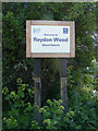 TM4778 : Reydon Wood Nature Reserve sign by Adrian Cable