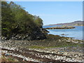 NM7283 : Shore near Ardnambuth by M J Richardson