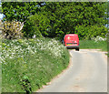 TM4592 : Royal Mail van travelling on St Mary's Road, Aldeby by Evelyn Simak