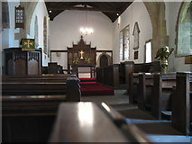 NY3259 : The interior of St Michael's church, Burgh by Sands by David Purchase
