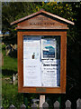 TM4980 : South Cove Village Notice Board by Adrian Cable