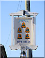 TM4981 : Five Bells Public House sign by Adrian Cable