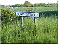 TM3485 : Low Street sign by Adrian Cable