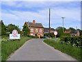 TM3485 : Entering Ilketshall St.Margaret on Low Street by Adrian Cable