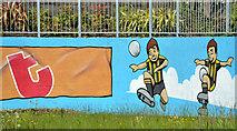 J4073 : Mural, Tullycarnet, Dundonald (3) by Albert Bridge