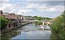 NZ2742 : Milburngate Bridge, Durham by Pauline E