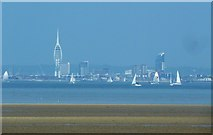 SZ6299 : Spinnaker Tower and Portsmouth seafront from Ryde by Rob Farrow