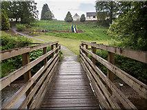 NO1325 : Footbridge across Annaty Burn by Rob Burke