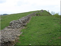 NY8070 : Hadrian's Wall on Sewingshields Crags by David Purchase