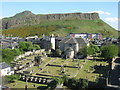 NT2673 : Canongate Kirk and Salisbury Crags by M J Richardson