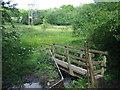 TQ0285 : Bridge over stream near Denham by Malc McDonald