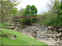 NY6266 : Millennium Footbridge over the River Irthing by David Purchase