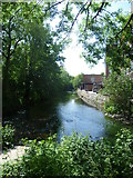 TQ1868 : Hogsmill River in the centre of Kingston by Marathon