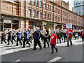 SJ8397 : Brass Band, Manchester Day 2013 by David Dixon