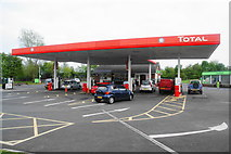 NU1911 : Total petrol station and Co-op food store, Alnwick by Bill Boaden