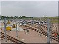 NT1772 : Trams at Gogar Depot by Alan Murray-Rust