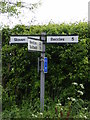 TM4583 : Roadsign on Southwell Lane by Adrian Cable