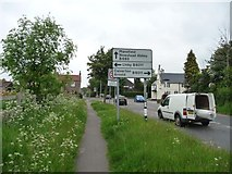 SK5451 : Left for Linby, right for Arnold by Christine Johnstone