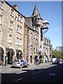 NT2673 : The Canongate Tolbooth clock by Stanley Howe