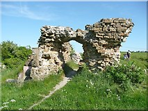 SE2525 : Ruins of Howley Hall, the archway by Humphrey Bolton