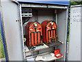 NZ5807 : Tyer & Co. key-token Machines at Battersby Station by John Lucas