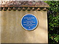 SJ6905 : Madeley Blue Plaque by Gordon Griffiths