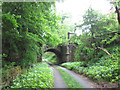 SE0735 : Disused railway bridge near Wood Nook by John Slater