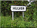 TM4785 : Hulver name sign by Adrian Cable