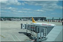 TL5523 : Apron at Stansted Airport by Sandy B