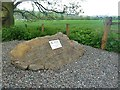 NT4528 : A commemorative boulder at Philiphaugh by Walter Baxter