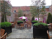 SO8318 : The beer garden at the Robert Raikes's House by Ian S