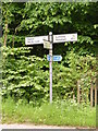 TM4585 : Roadsign on Jay's Hill Road by Adrian Cable