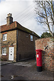 TQ0487 : George V Pillar Box, Denham, Buckinghamshire by Christine Matthews