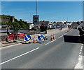 SO0428 : Usk Bridge maintenance work, Brecon by Jaggery