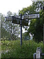 TM4380 : Roadsign on the B1124 Halesworth Road by Adrian Cable