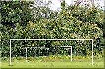 J5879 : Goalposts, Donaghadee by Albert Bridge