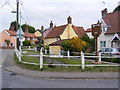 TM4077 : Holton Village sign by Geographer