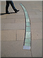 NT2673 : Curved lighting strip set in paving, Horse Wynd by Robin Stott