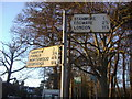 TQ1692 : Pre-Worboys signs on the corner of Uxbridge Road and Clamp Hill by David Howard